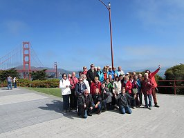 Mit Gute Reise Hauck nach Kalifornien. Hier an der Golden Gate Bridge San Francisco
